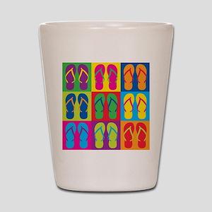 Pop Art Flip Flops Shot Glass