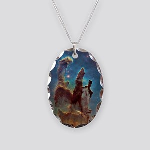 Pillars of Creation Necklace Oval Charm