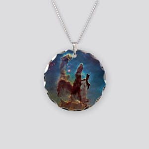 Pillars of Creation Necklace Circle Charm