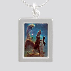 Pillars of Creation Silver Portrait Necklace