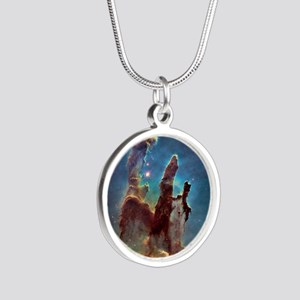 Pillars of Creation Silver Round Necklace