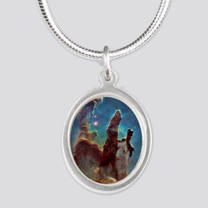 Pillars of Creation Silver Oval Necklace