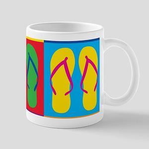 Pop Art Flip Flops Mugs