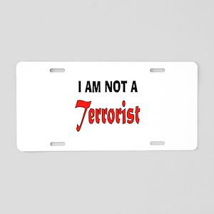 TERRORIST Aluminum License Plate
