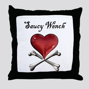 Saucy Wench Heart Throw Pillow