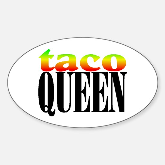 TACO QUEEN Oval Decal