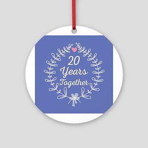 25th Wedding Anniversary Ornament (Round)
