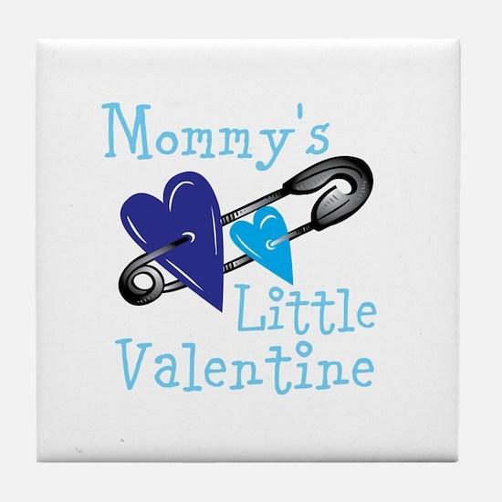 Mommy's Little Valentine Tile Coaster