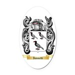 Iannetti Oval Car Magnet