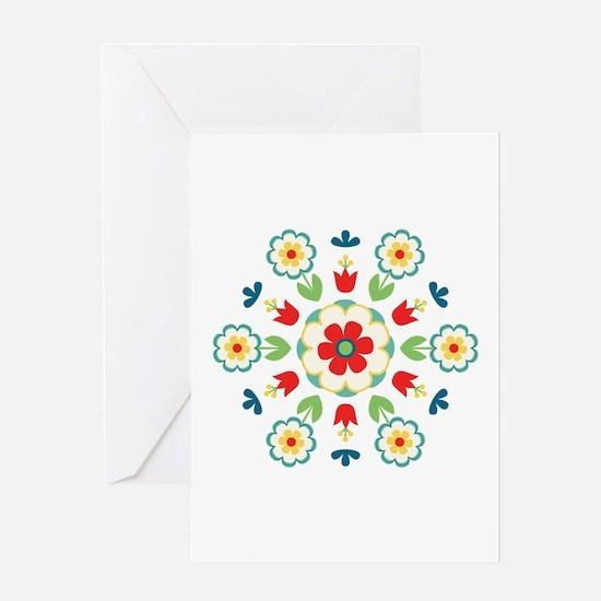 Scandinavian Swedish Floral Flowers Mandala Greeti