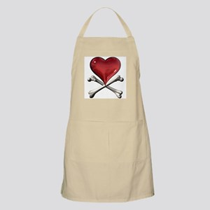 Red Pirate Heart BBQ Apron