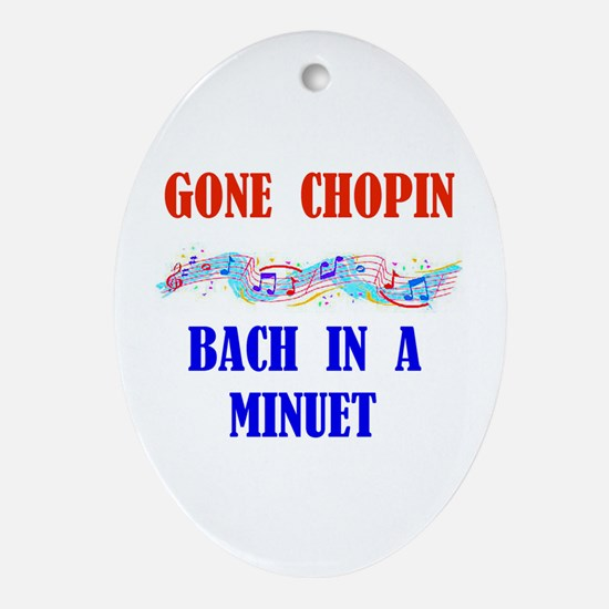 GONE CHOPIN Oval Ornament