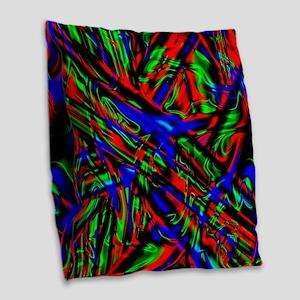 Abstract Glow Burlap Throw Pillow