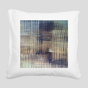 Blue Jeans Square Canvas Pillow