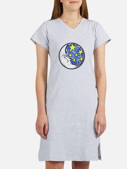 MOON AND STARS Women's Nightshirt