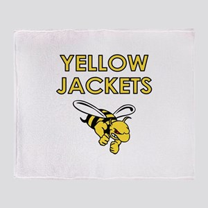 YELLOW JACKETS FULL CHEST Throw Blanket