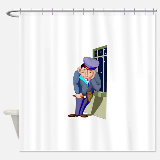 Security Guard Shower Curtain
