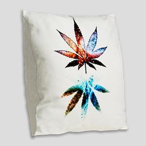 Galactic Ganja Burlap Throw Pillow