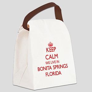 Keep calm we live in Bonita Sprin Canvas Lunch Bag