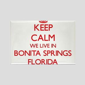 Keep calm we live in Bonita Springs Florid Magnets