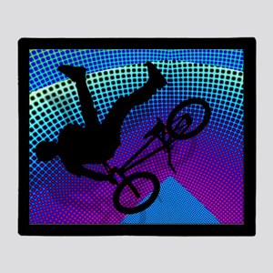 BMX inFractal Movie Marquee Blanket Throw Blanket