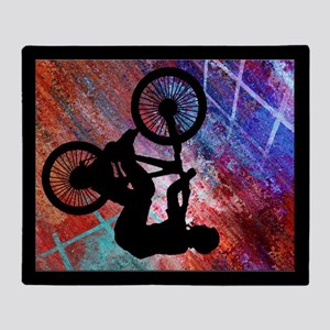 BMX Rusty Grunge Throw Blanket