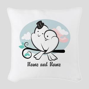 Lovebirds Woven Throw Pillow