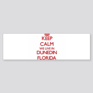 Keep calm we live in Dunedin Florid Bumper Sticker