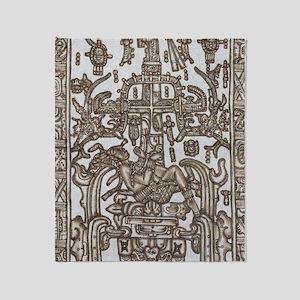 Mayan Ruler Pakal Kim  Throw Blanket