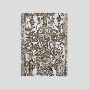 Mayan Ruler Pakal Kim  5'x7'Area Rug