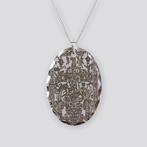 Mayan Ruler Pakal Kim  Necklace Oval Charm