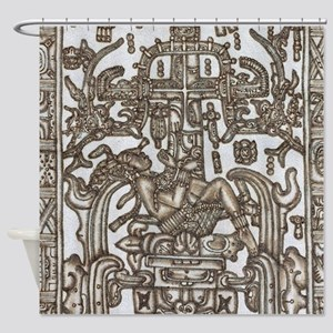 Mayan Ruler Pakal Kim Shower Curtain