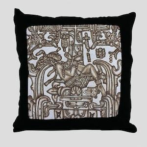 Mayan Ruler Pakal Kim Throw Pillow