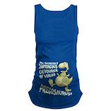 Dinosaur Dark Maternity Tank Top