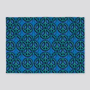Peace Signs 5'x7'area Rug