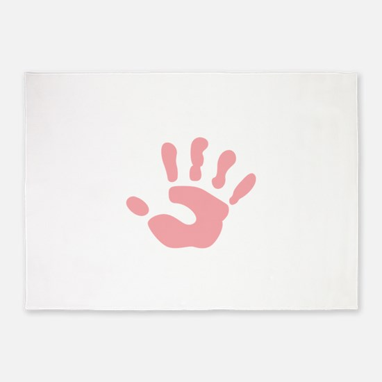 SMALL CHILDS HANDPRINT 5'x7'Area Rug