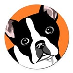 Boston Terrier Round Car Magnet
