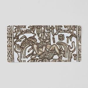 Mayan Ruler Pakal Kim Aluminum License Plate