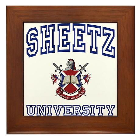 SHEETZ University Framed Tile