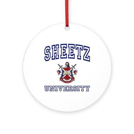 SHEETZ University Ornament (Round)