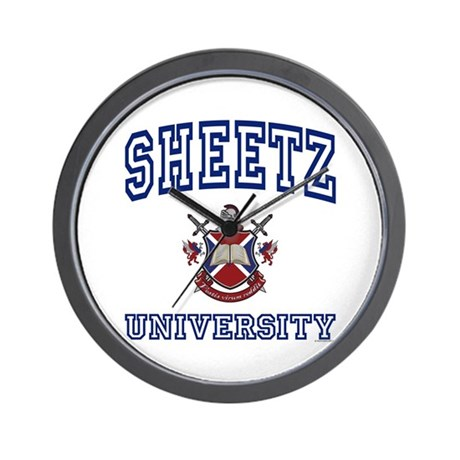 SHEETZ University Wall Clock