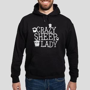 Crazy Sheep Lady Hoodie (dark)