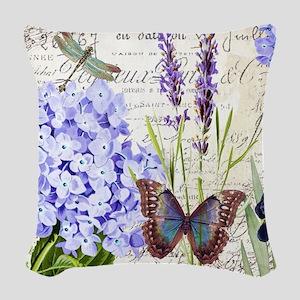 New botanical Woven Throw Pillow