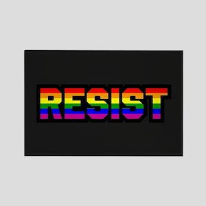 Resist - Gay Pride Rectangle Magnet