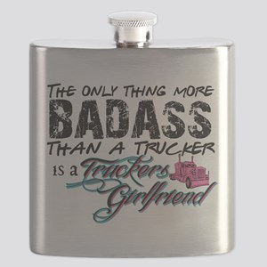 Badass Trucker's Girlfriend Flask