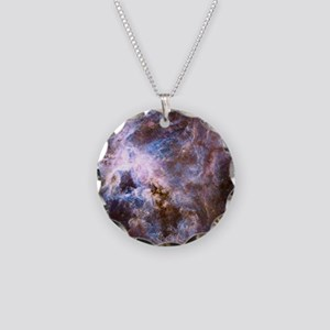 Colorful Cosmos Necklace Circle Charm