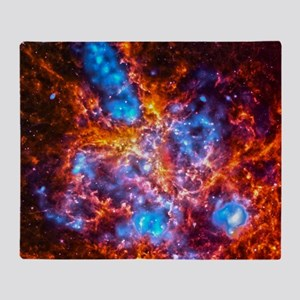 Colorful Cosmos Throw Blanket