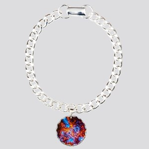 Colorful Cosmos Charm Bracelet, One Charm