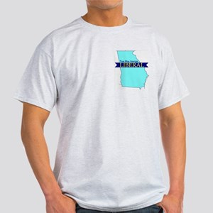 Ash Gray T-Shirt for a True Blue Georgia LIBERAL