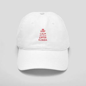 Keep calm we live in Jupiter Florida Cap